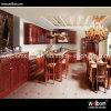 Armário de cozinha clássico moderno da madeira contínua de America do Norte
