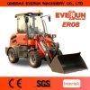 Nuevo pequeño Mit 800kg Hubkraft y Palletengabel del cargador de la rueda Zl08 de Everun 2017