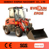 Everun Zl08 Small Wheel Loader with 800kg piston force & pallet fork