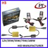 35W 55W тонкое Fast Bright HID Xenon Kit H3