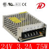 2 años de Warranty 75W 12V/24V Switching Power Supply (HS-75W)