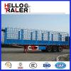 3 Axles тележка трейлера бортовой стены загородки 60 тонн стальная Semi