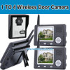 1 appareil-photo à 4 Monitor, 3.5-Inch 2.4G Wireless Door Camera+ Door Bell+Take Photo+Night Vision+Video Recorder+Two Talk (W014)