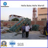 Halfautomatische Hydraulische het In balen verpakken Machine voor het Centrum van de Distributie (has4-5)
