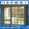 Doppio Windows appeso di alluminio/finestra fissa di alluminio con il disegno della griglia
