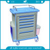 AGMt001A1 Luxuriousの6引出しABS Medical Trolley