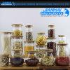 Tarro casero del almacenaje de la botella de cristal de los utensilios de cocina del uso