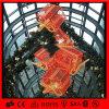 Caja de regalo colgante decorativa de interior del adorno de la Navidad del LED