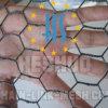 六角形の電流を通された金網の網