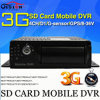 이동할 수 있는 DVR, H. 264 4CH Car DVR 의 실제 시간, GPS Track, 입력/출력, G-Sensor, Vehicle DVR 의 Support iPhone, Android Phone