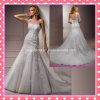 Ein Schulter-Tulle-SpitzeApplique, der Hochzeits-Kleid A203 bördelt