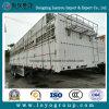 중국 제조자 가축 판매를 위한 세 배 3개의 차축 담 화물 평상형 트레일러 트레일러