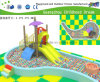Pequeno Playground Ball Pool e Slide jardim de infância Playground (H14-03258)