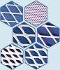 Materiale del filtrante, maglia di alluminio ampliata