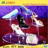 Acrylic обувает стеллаж для выставки товаров (AM-C066)