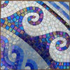 Mosaico del vidrio del azulejo de suelo de la promoción