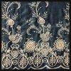 Cordón Atar-Teñido del bordado del algodón del cordón del bordado del remache de la flor del cordón del bordado del remache