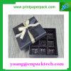 Caja de embalaje encantadora popular del rectángulo de regalo de la cartulina del rectángulo del chocolate