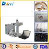 marcador do laser da fibra do CNC 20W para a ferragem da jóia, preço plástico