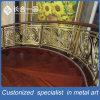 Patrones de Tallado Dorado Pasamano de Escalera de Acero Inoxidable para Lobby del Hotel