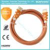 Cavo ad alta velocità di 1080P HDMI per il calcolatore HDTV DVD