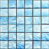 Mozaïek van het Glas van het Zwembad van de kwaliteit het Vierkante met het Blauwe Ontwerp van de Kleur