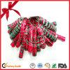 Belles proues bouclées estampées de cadeau de décoration de Noël