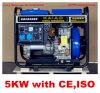 Generador diesel refrescado aire 5kw la monofásico del marco abierto en la acción