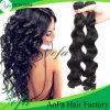 Capelli umani resi personali del Virgin nero naturale dei prodotti per i capelli di disegno 22inch