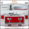 Meubles de cuisine de mémoire de Module de modèle d'île de couleur rouge de N&L