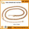 Courroies à chaînes de première de vente de mode de qualité taille d'or en métal