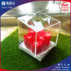 Cadre acrylique d'étalage transparent de fleur avec la couverture acrylique claire