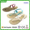 Donne di cristallo piane dei sandali di estate di nuovo modo di arrivo (RW28753)