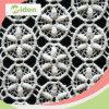 Tela do laço da roupa interior do cabo do bordado da guipura do teste padrão de flor do círculo