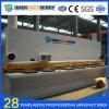 Guilhotina hidráulica da placa de aço do CNC de QC11y