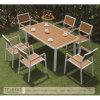 Meubles extérieurs en plastique en bois de table de jardin de patio de fonte d'aluminium