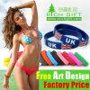 Fabrik-BRITISCHES heißes verkaufendes kundenspezifisches Mehrfarbensilikon-Armband