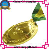 Medalha de esportes de metal com logotipos 3D