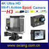 Factory Price Gopro Hero 4 Ultra Full 4k Ultrathin 2 ' Ltps LCD Mini WiFi Waterproof Sport Action Camera DV (OX-H2)