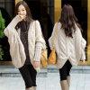 Type de mode plus le cardigan de laines tricoté par chemise de bat de taille (66180)