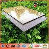 Pannello composito di alluminio di superficie di legno dell'alto poliestere di lucentezza