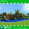 Großer Dschungel-Thema-Vergnügungspark-Spielplatz mit kletterndem Netz