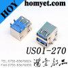 Socket dual del USB de la alta calidad 3.0 un conector del USB de Tyoe