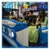 Simulador interactivo eléctrico del cine de los vidrios 9d del cine 9DVR 3D de las películas del cine 9d de los asientos del móvil 6 del carro