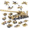 14884031-Building blockt Militärwaffen 16 Ziegelsteine Brinquedos Spielwaren der Superbecken-Assemblage1 selbstsichernde