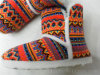 Женщины греют связанные зимой крытые ботинки Knit тапочек
