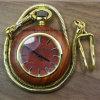 Relógio Pocket do pendente de madeira análogo novo da colar de quartzo 2017