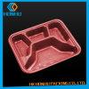 Rectángulo plástico de encargo de los alimentos de preparación rápida del PVC del almuerzo