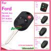 Chave remota modificada automóvel da aleta para Ford Focus com 3 cor preta Hu101 das teclas 433MHz