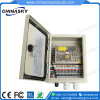 12VDC maak de Levering van de Macht van kabeltelevisie voor de Systemen van de Camera van het Toezicht van kabeltelevisie (waterdicht 12VDC10A18PW)